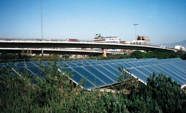 ΣΤΑΔΙΟ ΕΙΡΗΝΗΣ & ΦΙΛΙΑΣ, Αθήνα – 1992. 15.000lt. Επίπεδοι συλλέκτες 300m².